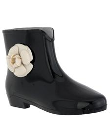 Capelli New York Opaque With Flower Ladies Mademoiselle Bootie Jelly Rain Boot