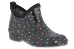 Capelli New York Multi Dots Printed Ladies Slip-on Bootie Body Jelly Shoe