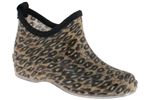 Capelli New York Shiny Sketchy Leopard Printed Ladies Slip-On Jelly Bootie Body