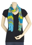 Capelli New York Beach Stripes Printed Crinkle Scarf