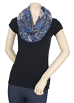 Capelli New York Lace Leopard Printed Loop Scarf