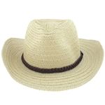 Capelli New York Solid Wide Paper Cowboy Hat With Band