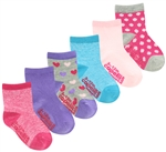 Capelli New York Infant Girls Marled and Patterned Socks with Grippers