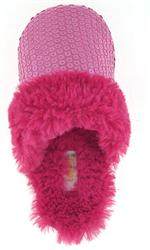Capelli New York Allover Sequins Scuff With Bunny Fur Trim Girls Indoor Slipper