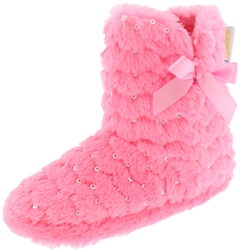 Capelli New York Girls Faux Fur Boot with Sequins