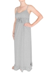 Capelli New York Ladies Solid Jersey V-Neck Cami Style Long Maxi Dress