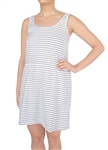 Capelli New York Ladies Striped Knit Cinched Waist Tank Dress
