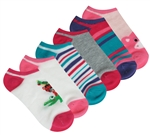 Capelli New York Animal Friends 6 Pack No Show Socks
