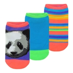 Capelli New York Playful Panda 3 Pack No Show Socks