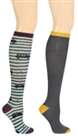 Capelli New York London Taxi 2 Pack Ladies Knee High Socks