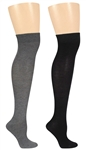 Capelli New York Solid Ladies 2 Pack Over The Knee Socks