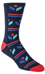 Stith Men's Cube Tribal Printed Dress Socks