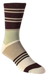 Stith Men's Random Stripe Printed Dress Socks
