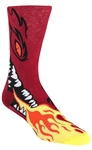 Stith Men's Flaming Dragon Printed Dress Socks