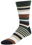 STITH Men's Mixed Stripes Print Crew Socks