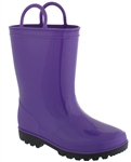 Billito Shiny Solid Baby Girls Jelly Rain Boot With Handles