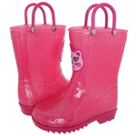 Capelli New York Toddler Girls Kitty Applique Rain Boot Pink Combo