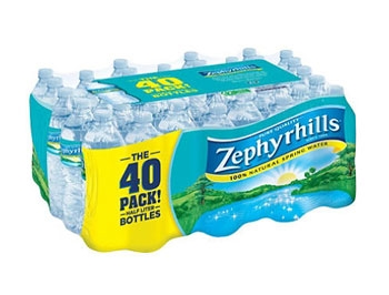 Zephyrhills Bottled Water 40 pack - 16.9 ounce