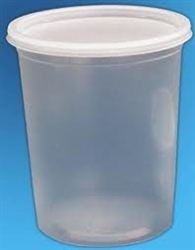 One Quart Take-Out/ Storage Plastic Containers with Lids