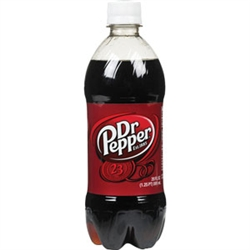 Dr. Pepper Soda Bottles