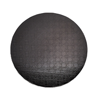 "12"" ROUND CAKE DRUM - GLOSS BLACK"