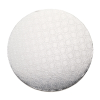 "20"" ROUND CAKE DRUM - SILVER FOIL"