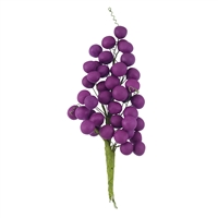 Grape Bunch With Leaves - Purple