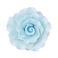 Large Gum Paste Formal Rose - Blue