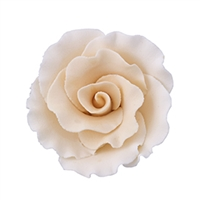 Large Gum Paste Formal Rose - Cream