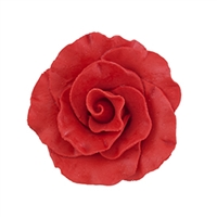 Large Gum Paste Formal Rose - Red