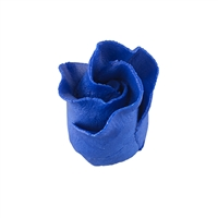 Gum Paste Formal Rosebud On A Wire - Royal Blue