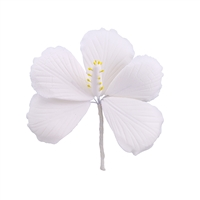 Gum Paste Hibiscus - White
