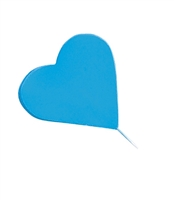 Gum Paste Heart On A Wire - Blue