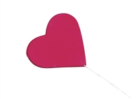 Gum Paste Heart On A Wire - Red
