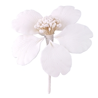 Medium Gum Paste Camellia Blossom - All White