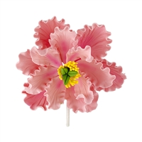 XXL Gum Paste Peony Blossom - Pink With Yellow And Green Center
