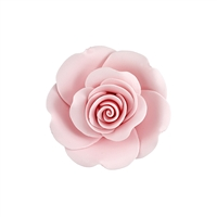 XXL Gum Paste Garden Rose On A Wire - Pink