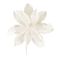Gum Paste Tranquil Water Lily - White