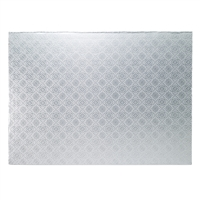 Half Sheet Cake Drum - Style 2 - Silver Foil