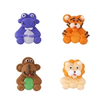 Mini Royal Icing Jungle Animals - Assortment