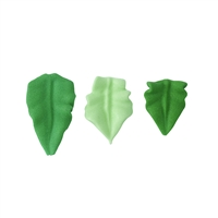 Small Royal Icing Rose Leaf - Dark Green