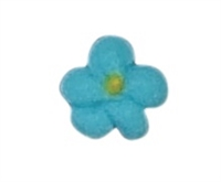 Mini Royal Icing Drop Flower - Blue