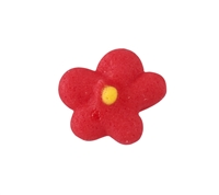 Mini Royal Icing Drop Flower - Red