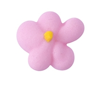 Small Royal Icing Drop Flower - Pink