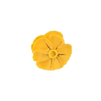 Small Royal Icing Pansy  - Golden Yellow