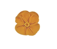 Medium Royal Icing Pansy - Golden Yellow