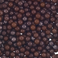 5mm Edible Pearlized Dragees - Black Gloss