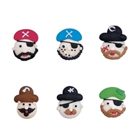 Royal Icing Pirate Face Assortment