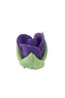 Royal Icing Rosebud - Purple