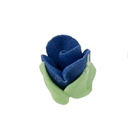 Royal Icing Rosebud - Royal Blue